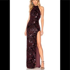 NWT Revolve Penelope Gown in Purple Floral Prom!!